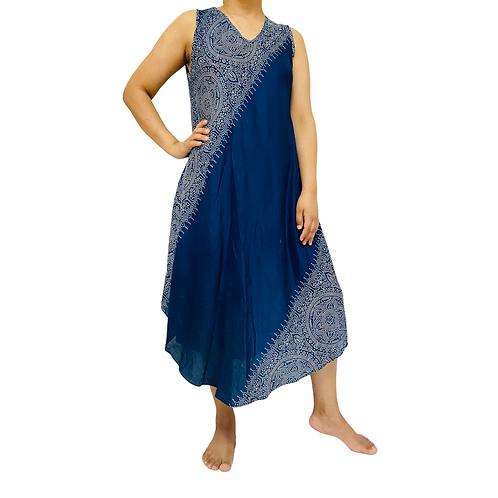 Loose Rayon Tunic Summer Dress