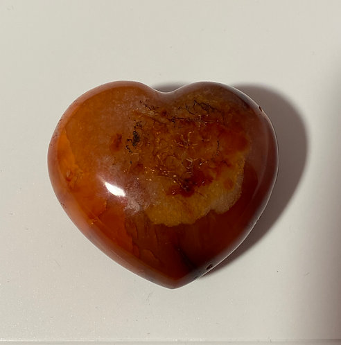 Red Jasper Crystal Heart