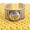 Thumbnail: Wide Cuff Ganesh/ Ganesha Bracelet, Tribal Fusion Ganesh Tibetan Silver Bracelet