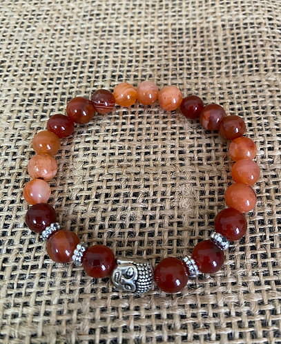 Carnelian with Buddha Charm
