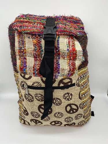 Handmade Eco Friendly  Cotton/ Hemp Plus Recycle Silk  Back Pack from Nepal