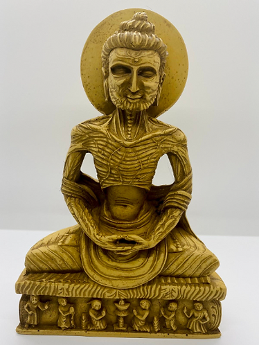 "8"" Handmade Skeleton Dhyani Buddha Statue,Deep Meditating Buddha , Buddha Statue"