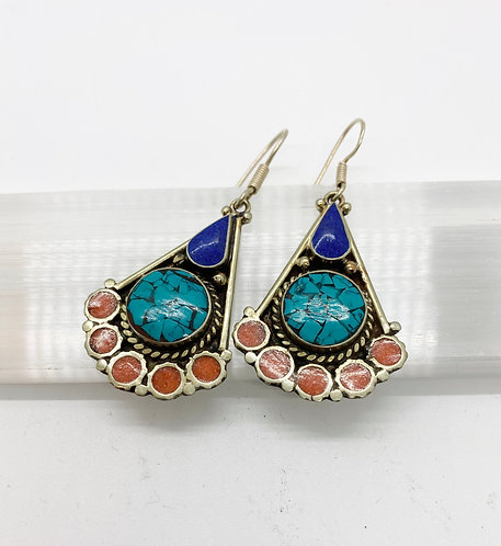 Authentic Handmade Tibetan Tribal Fusion Bohemian Earring