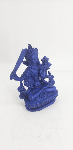 Handmade Manjushree Statue from Nepal, ManjushreeBodhisattva ResinStatue, Tibeta