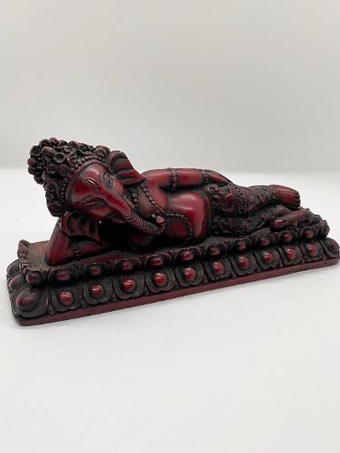 Handmade Resting Ganesh Statue from Nepal, Ganesha Statue, Vinayaka, Resin Ganes