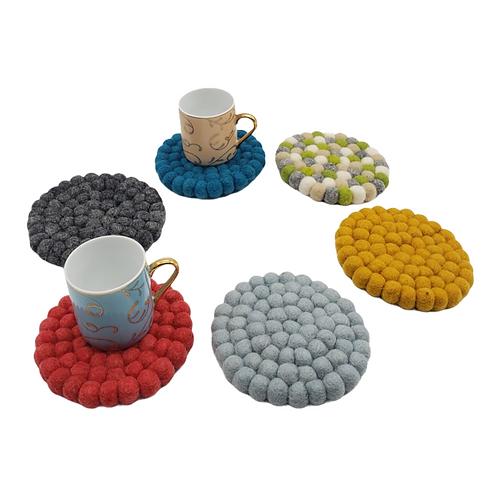 Absorbent Felt Coasters, Set of Four Coasters