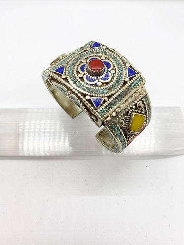 Tibetan Tribal Fusion Handmade Cuff Bracelet