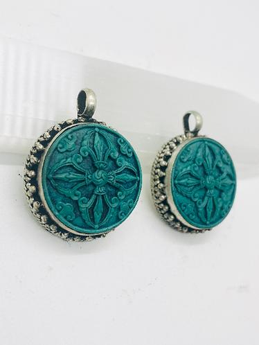 Handmade Double Dorje Pendant from Nepal, Tibetan Pendant,Protection Pendant