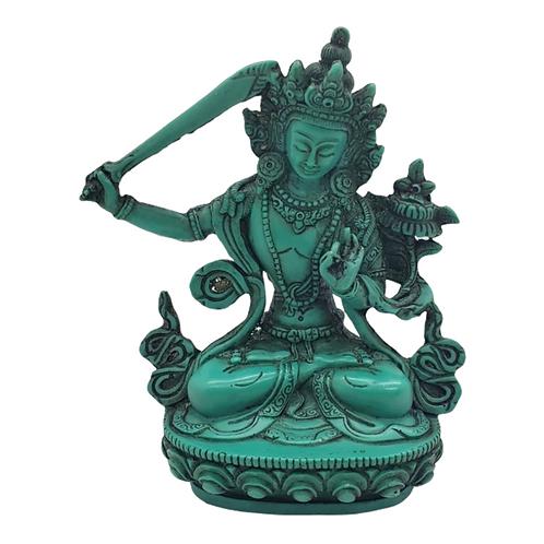 Manjushree Statue from Nepal/Bodhisattva Manjushri Resin Statue