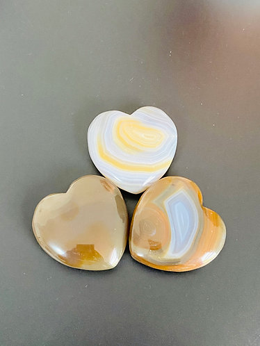 Agate Crystal Heart