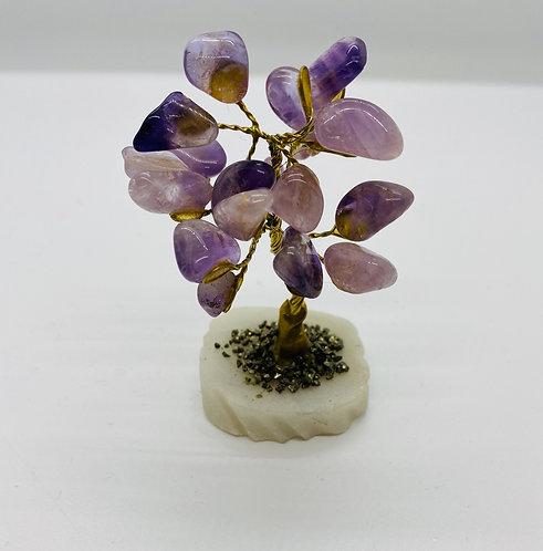"""4"""" Amethyst Prosperity Bonsai Tree"""