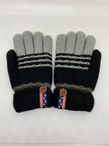 Fleece Lined Multicolor Mitten , Kids Gloves, Winter Kids Gloves,Soft and Warm M