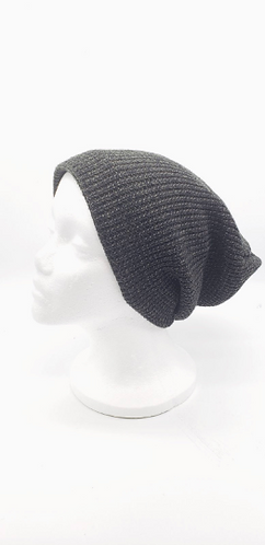 Hand Knit  Unisexual Fleece Lined Beanie  Hat, Slouchy Hat, Winter Hats, Hats wi