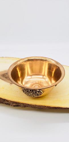 "Handmade 5"" Copper Offering Bowl from Nepal/Copper Bowl/Altar Bowl/Sacred Geomet"