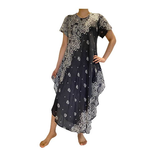 Summer Printed Dress/Half Circle Printed Dress
