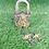 Thumbnail: Handmade Baby Krishna Door Lock with Two Keys, Vintage Door Lock from Nepal, Hom