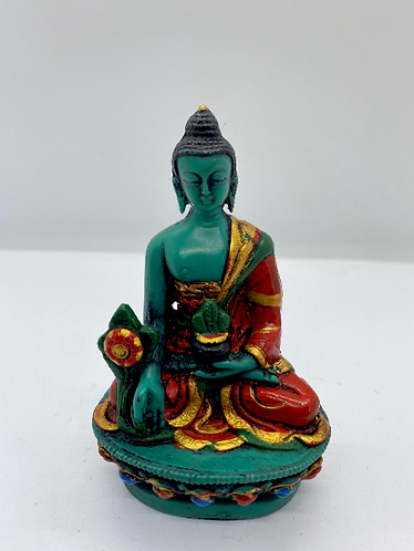 Handmade Colorful Healing Buddha from Nepal,Gautam Buddha, Medicine Compassion B