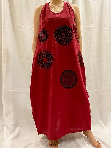 Soft Cotton Long Dress/Bohemian Dress/Hippie Dress/Solid Color Dress