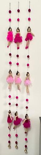 Handmade Felt Ballerinas Mobile Two Colors Mobile Felt Hanging,Girl Gift, Felt B