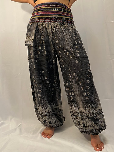 Cotton Pants with Hand Embroidery