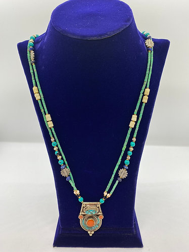 Handmade Ethnic Tibetan  Tribal Fusion Necklace