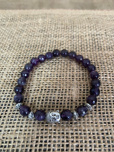 Amethyst with Buddha Charm