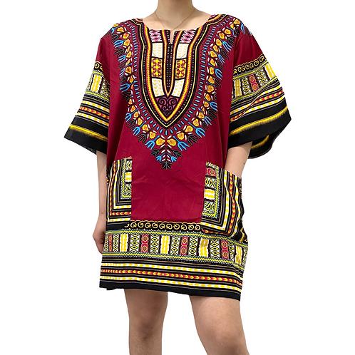 One Size Unisex Dashiki, Colorful Summer Tshirts