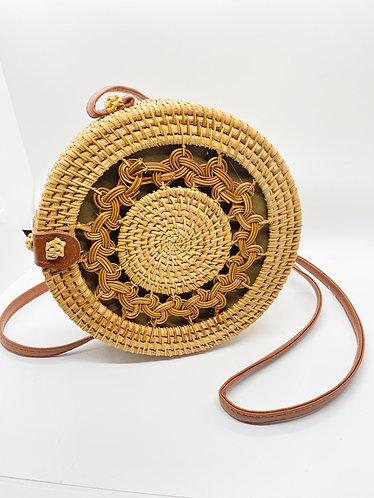 Hand woven  Bamboo Cross body Bag