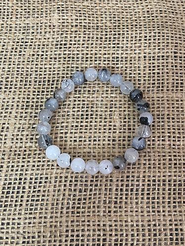 Black Rutile Quartz Bracelet