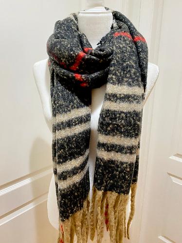 Winter Plaid Winter Blanket Scarfs, Winter Scarfs, Warm Winter Scarfs, Multi Str