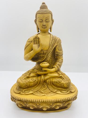 """7"""" Handmade Blessing Buddha From Nepal, Amoghsiddhi Buddha, Buddha,Peaceful Budd"""