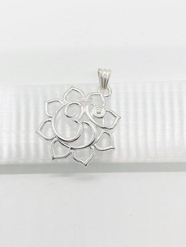 Handmade Flower OM Pendant