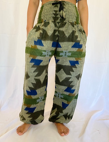 Handmade Geometric Wool Pant