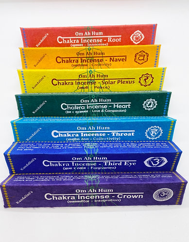 Seven Chakra incense Handmade from Nepal