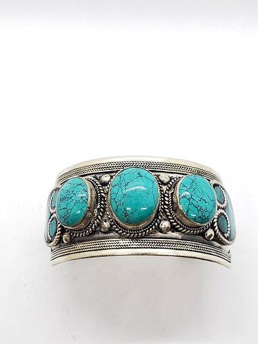 Handmade Turquoise Metal Cuff Bracelet