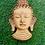"Thumbnail: 6"" Handmade Buddha Mask from Nepal, Buddha Wall Hanging, Home Decor, Wall Decor,"