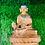 "Thumbnail: Handmade 6"" Gold Plated (5 metal mix body) Healing Buddha from Nepal,24k Gold Pl"