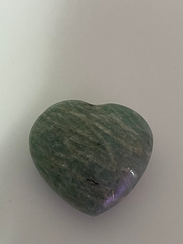Amazonite Crystal Heart