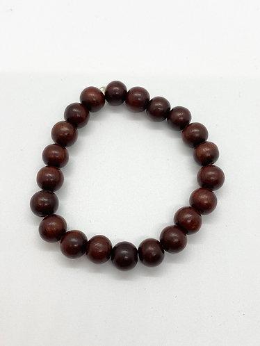 Natural Rosewood Prayer Beads Bracelet
