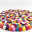 Thumbnail: Handmade Felt Ball Placemat from Nepal, Multicolor Placemat,Round Placemat, Mode