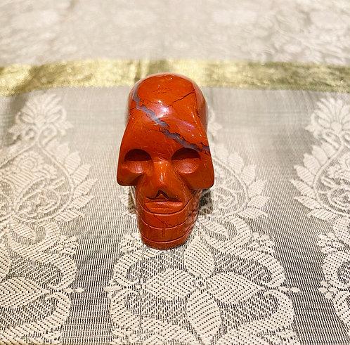Handmade Red Jasper Skull