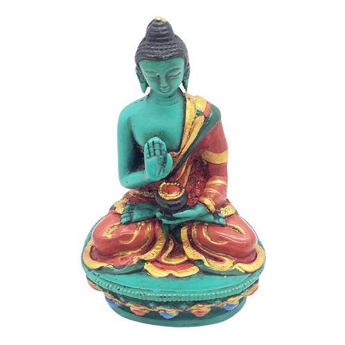 Blessing Buddha,Handcarved Colorful Gautam Buddha Statue