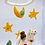 Thumbnail: Handmade Felt  mobile, Nursery Decor, Angel, Moon, Star Mobile,Crib Mobile,Nurse