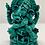 Thumbnail: Handcarved Green Ganesh/Ganesha Statue, Resin Ganesh,Sitting Ganesh, Sitting Gan