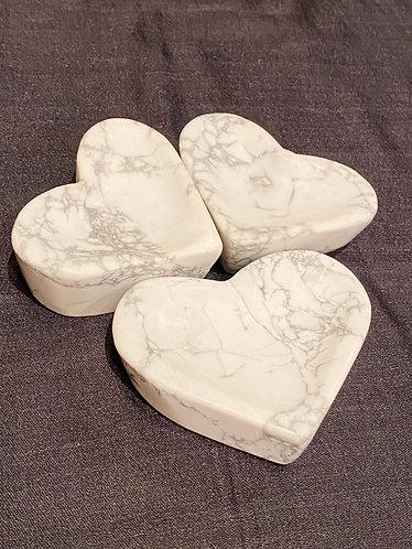 Handmade Howlite Heart Bowl