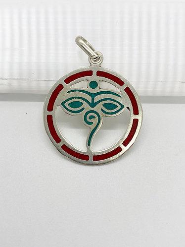 Handmade Eye of Buddha Tibetan Pendant