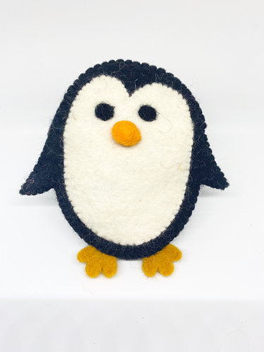 Handmade Felt Penguin Coin Purse