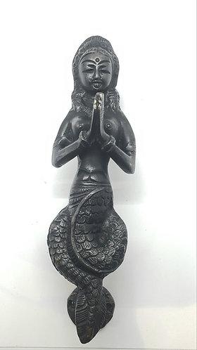 Handmade Ethnic Nagkanya Design Brass Door Handle/Knob