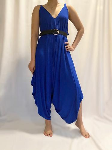 Women Solid Color Spandex Jumpsuit