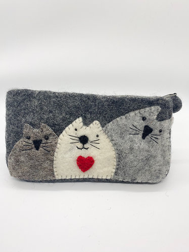 Handmade Felt Purse with Zipper